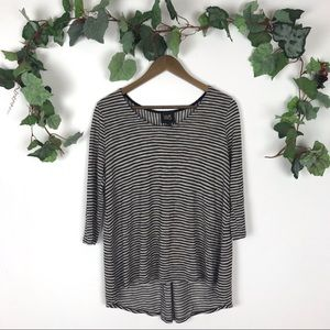 Anthropologie W5 Striped 3/4 Sleeve Top